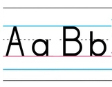 Manuscript Alphabet and Numbers for Bulletin Board