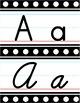 Manuscript & Cursive Alphabet Line - Black & White Polka Dot