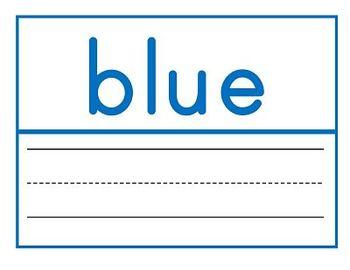 Manuscript Font Color Word Wall