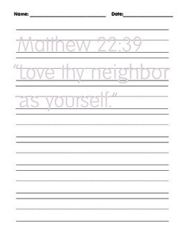 Manuscript Handwriting Pages with Bible Verses