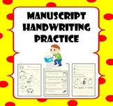 Manuscript Handwriting Practice for Pre-K to 3rd Grade