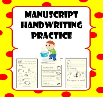 Manuscript Handwriting Practice for Pre-K to 3rd Grade