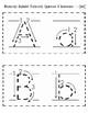 Manuscript Print Alphabet Flashcards: Quarter Sheet and Half Sheet Format
