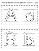 Manuscript Print Alphabet Flashcards: Quarter Sheet and Half Sheet Format