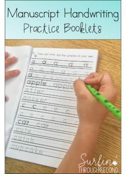 Manuscript Printing Handwriting Practice Booklets