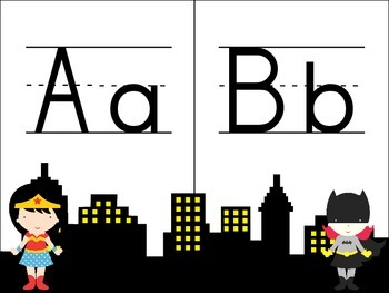 Manuscript Superhero Alphabet