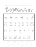 Manuscript Writing Practice for Primary-Alphabet Months