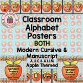 Manuscript and Cursive Alphabet Posters | Set A 1.1 | Apple Themed
