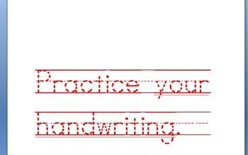 Manuscript and Cursive Handwriting Practice