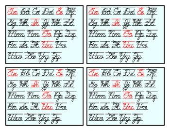 Manuscript and Cursive Mini-Charts
