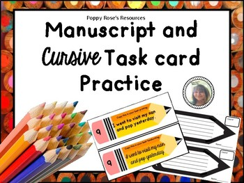 Manuscript and Cursive Practice Center Work