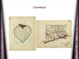 Manuscript maps. Book on Penmanship. Frances A. Henshaw.