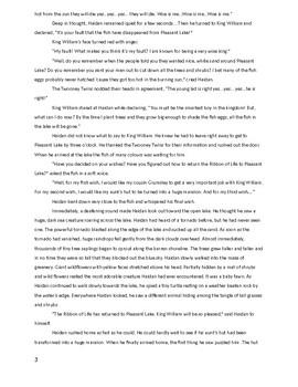 "Manuscript of my  book called""  A Wish for Haidan."""
