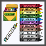 Manx Language / Gaelg Crayons (High Resolution)