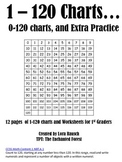 Many 1-120 Charts for 1st Graders
