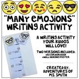 Many Emoji-ons Writing Activity and Craft