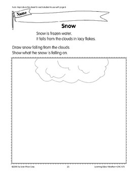 Many Kinds of Weather: Snowy Weather