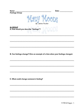 Many Moons: An Integrated Science, Reading and Writing Lesson
