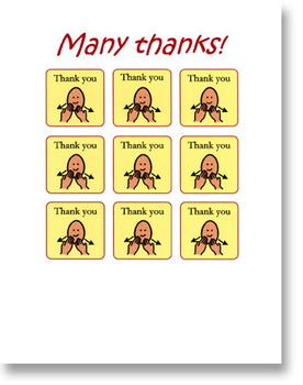 Many Thanks Note Card - Made with Picture Symbols
