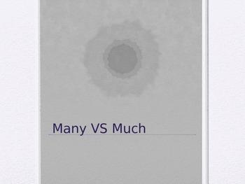 Many Vs Much