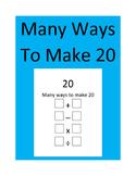 Many Ways To Make 20