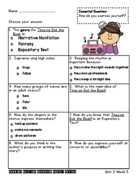 Many Ways to Enjoy Music & They've Got the Beat! Assessments