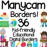 Manycam Borders: Educational Borders for Teaching Young Learners English Online