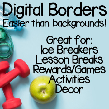 Manycam Borders: Photo Borders for older students for Teaching ESL Online
