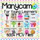 Manycam Flashcard Bundle: 600+ Digital ESL Flashcards for 28 English Topics!