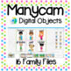 Manycam Objects: 16 Family Flashcards for Teaching English Online