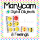 Manycam Objects: 8 Beginner Feelings Flashcards for Teaching English Online