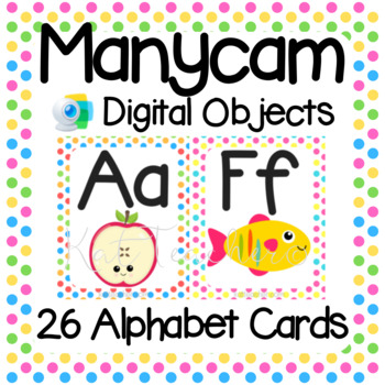 Manycam Objects: Alphabet Flashcards for Teaching English Online