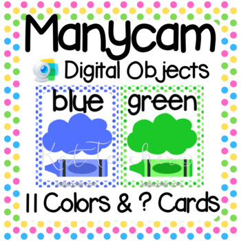 Manycam Objects: Color Flashcards for Teaching English Online