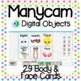 Manycam Objects: Face and Body Flashcards for for Teaching English Online