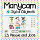 Manycam Objects: People and Jobs Flashcards for Teaching English Online
