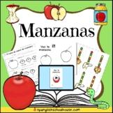 Manzanas - Spanish Apple Activities for Preschool