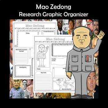 Mao Zedong Biography Research Graphic Organizer