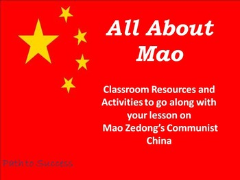 Mao Zedong Supplemental Activities!
