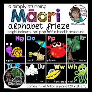 Maori Alphabet Posters or Frieze