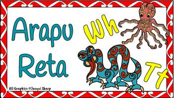 Maori Alphabet Arapu Reta cards