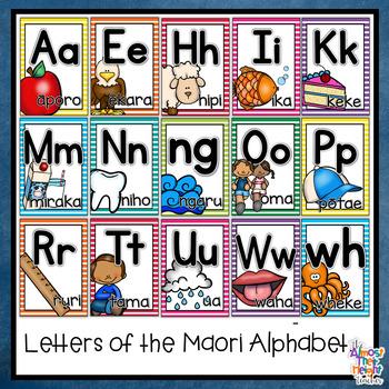 Maori Alphabet Posters for New Zealand Classrooms