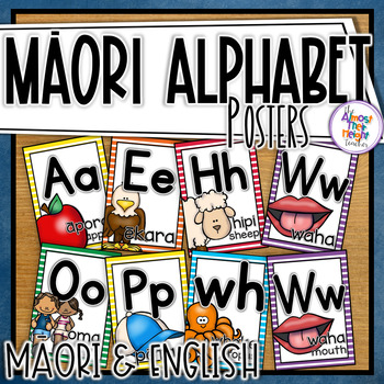 New Zealand Maori Alphabet Posters