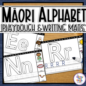 Maori Alphabet Playdough & Rainbow Writing Mats