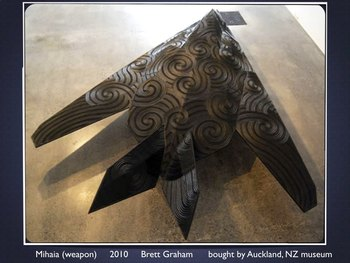 MAORI ART New Zealand SHOW + TEST = 209 Slides - visual