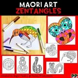Maori Art Zentangles,  No Prep Coloring Pages