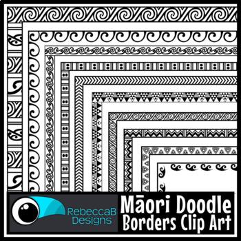 e2c4cae0caa23 Maori Borders Clip Art by RebeccaB Designs | Teachers Pay Teachers