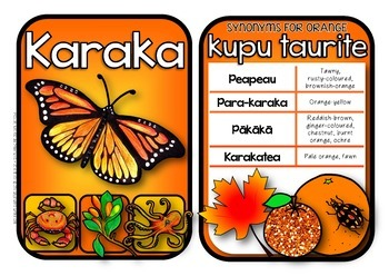 Maori Colour Posters & Synonym Cards {Kiwiana Themed}