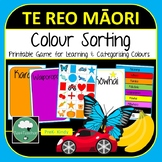 Maori Colour Sorting Game - PreK Kindy with Shapes Numbers and Colours in Te Reo