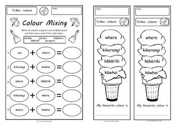 Te Reo Māori  -  Colours