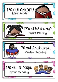 Maori & English Bilingual Timetable EDITABLE